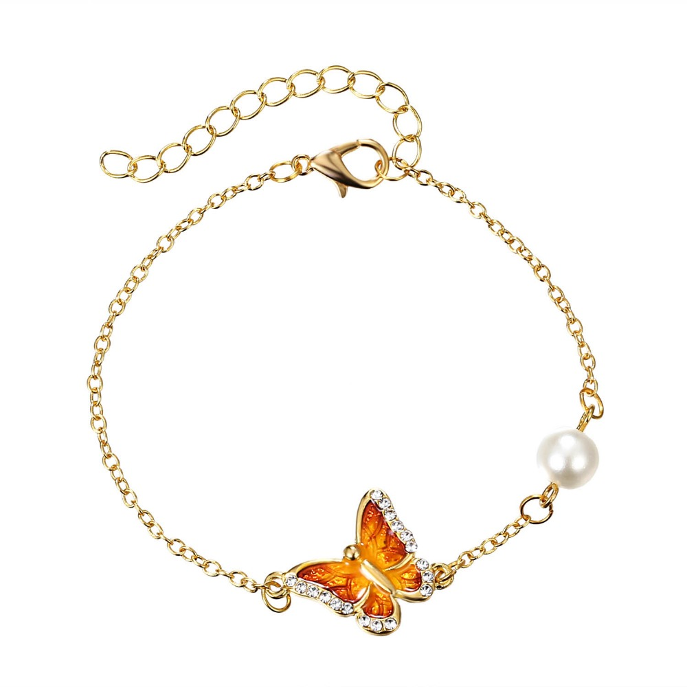 buy bracelet bracelets women beautiful butterfly friend gold girls hand charm color beach best children chain s promo womens kids for