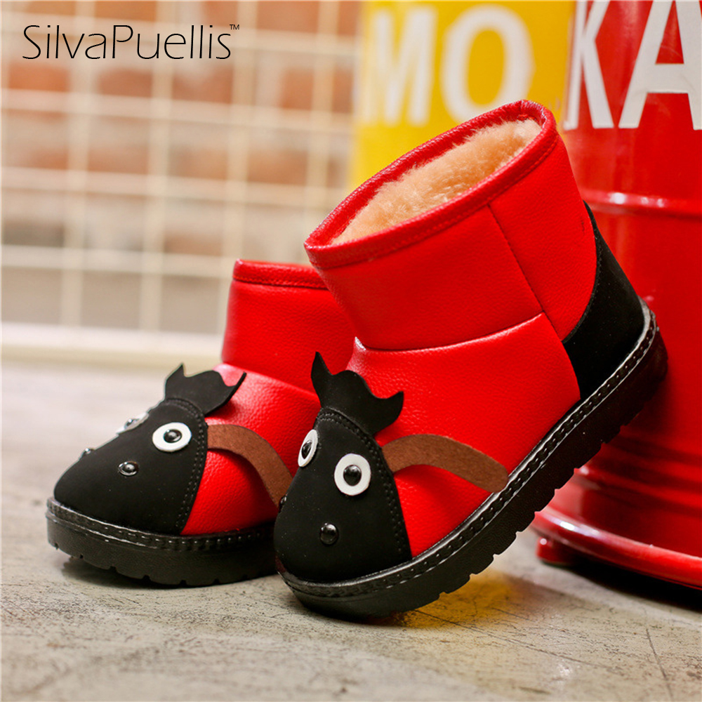 SilvaPuellis Children Boots 17 Winter New Children's Shoes Children's Snow Boots Cartoon Baby Shoes Fashion Boys And Girls Boots