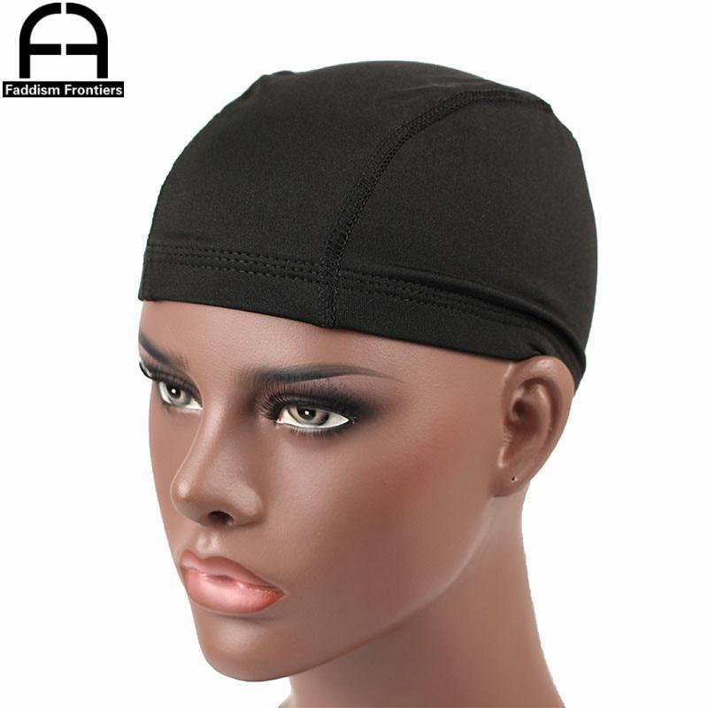 Men's Spandex Seamless Dome Cap Stretchy   Headwear   Turban Hat DuRag Hair Cover Accessories Dome Caps for Men
