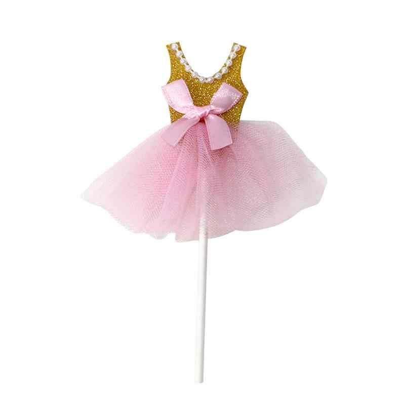 5 шт шикарная блестящая балерина юбка-пачка платье торт Топпер вечерние флажки для кексов украшения торта фруктов выбор для тематическое мероприятие A3