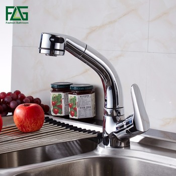 FLG Kitchen Faucet Mixer Tap Pull Out Spray Cold and Hot Tap Water Faucet Kitchen Sink Faucet