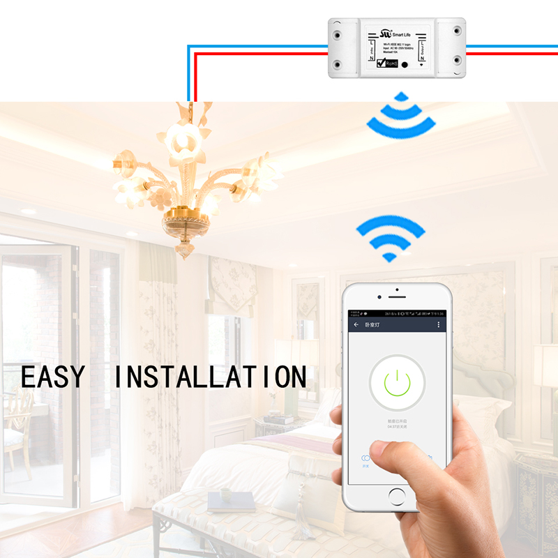 Image 4 - DIY Wi Fi Smart Light Switch Universal Breaker Timer Smart Life APP Wireless Remote Control Works with Alexa Google Home IFTTT-in Switches from Lights & Lighting