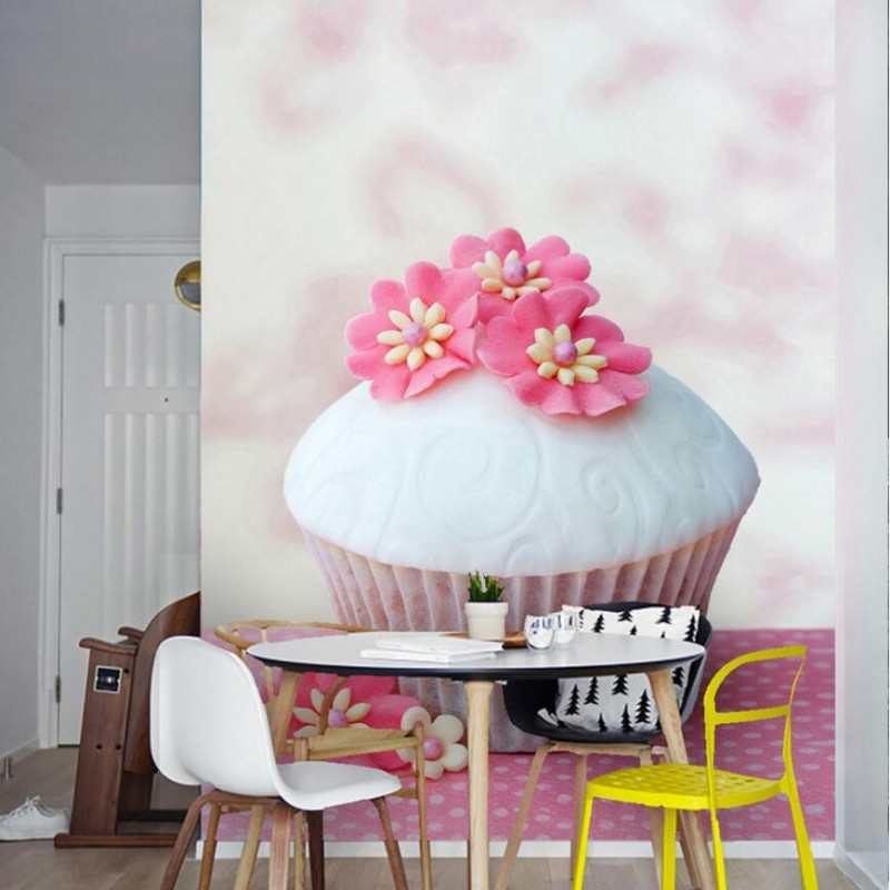 Delicious colorful flowers cream cake photography photo wallpapers dessert cake shop entrance hallway wallpaper mural guilin guangxi hong source specialty rose flowers cake 240g6 gold handmade flower cake pastry boxed 2 boxes