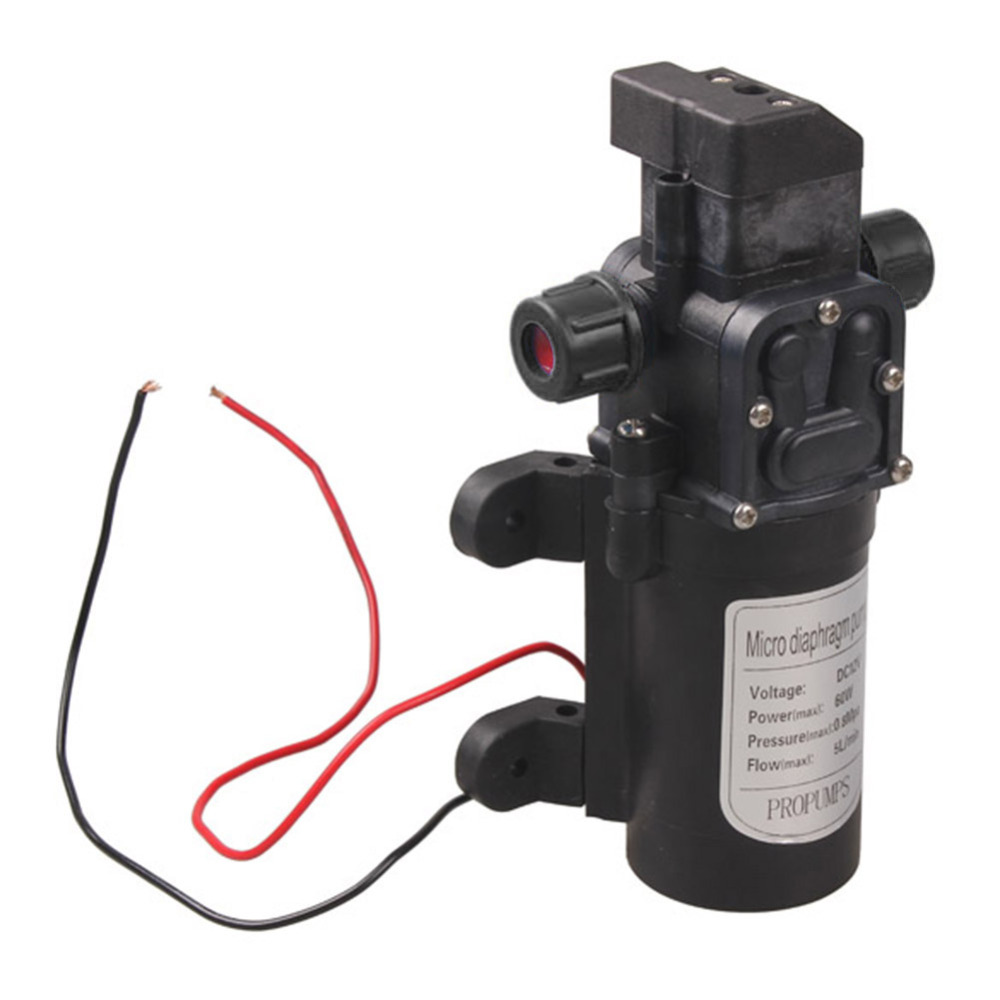 DC12V 60W Water Pump Micro Electric Diaphragm Automatic Switch 5L/min High Pressure Car Washing Spray Water Pump High Quality|diaphragm water pump|micro diaphragm water pump|water pump - title=