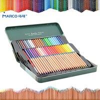 Marco 24 36 48 72 Color Set Watercolor Colored Pencil Professional Drawing Pencils School Pencils Lapices