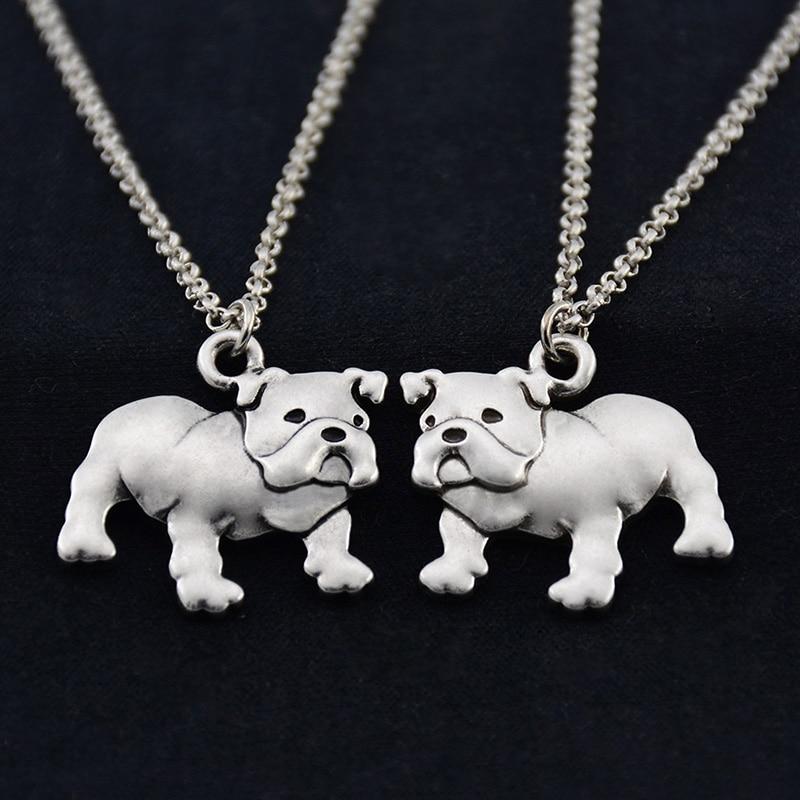 Fei Ye Paws Punk English Bulldog Dog Pet ქალის - მოდის სამკაულები - ფოტო 6