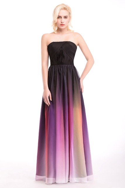 Hot Sale In Stock Real Pic Long Multi Color Bridesmaid Dresses