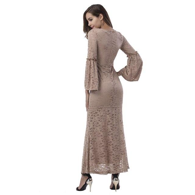 Fashion Brand Lace lace dress women top with skirt 2 pieces khaki B8012 1