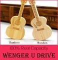 Wooden/Bamboo Guitar pen drive 64GB USB Flash Drive 512GB Natural Bamboo USB Flashdrive 64GB 32GB 16GB 8GB memory stick 128GB