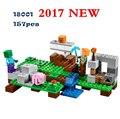 Kits de edificio modelo lepin mis mundos minecraft bloques educativos juguetes y pasatiempos para niños 21123