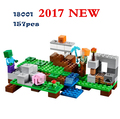 LEPIN Model building kits my worlds MineCraft blocks Educational toys hobbies for children 21123