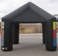 Portable Black Advertising Inflatable Canopy Inflatable Square Tent With Fan