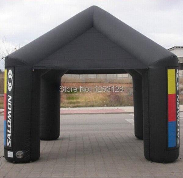 Пользовательские Портативный черный рекламы надувной Навес/надувные площади палатка с вентилятором