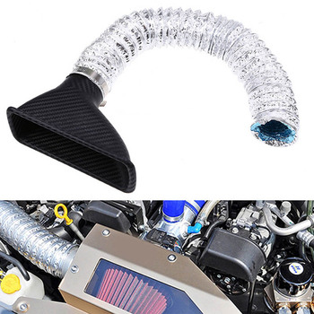 Universal Car Air Intake SUV Air Front Bumper Inlet Pipe Turbo Inlet Air Turbine Funnel Cold Air Filter image