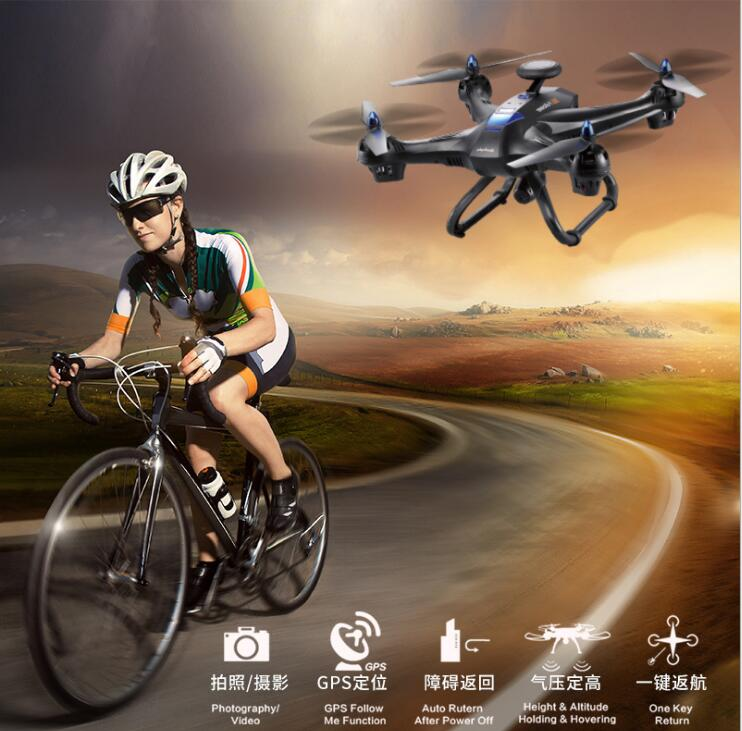 2017new GPS selfie aerial RC drone X183 altitude hold GPS follow me 5 8G FPV monitor