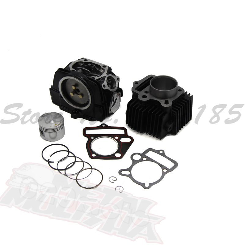 LIFAN125 Engine Cylinder with 54mm piston kit cylinder head gasket for Kayo Apollo Bosuer Xmotos 140cc taishan kama fd295t fd295ta set of engine block gasket kit including head gasket