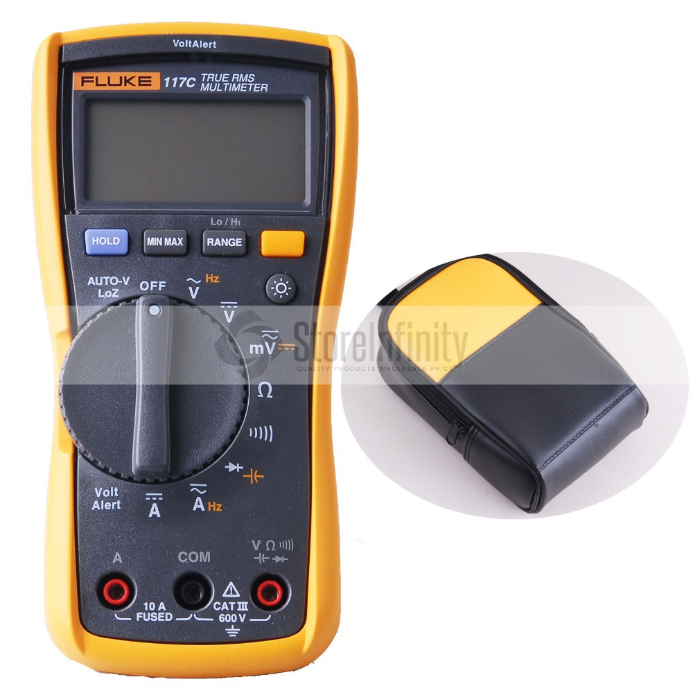 Fluke 117C Multimeter VoltAlert Backlight Meter Soft Carrying Case True RMS