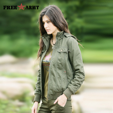 New Jacket Coat Military Women Winter Parkas Outwear Cotton-Padded Female Thicken