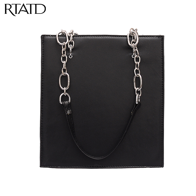 New 2019 Casual Classic Small Chains Ladies Tote Vintage Women PU Leather Handbags For Female Shoulder Bags Bolsas Q0296