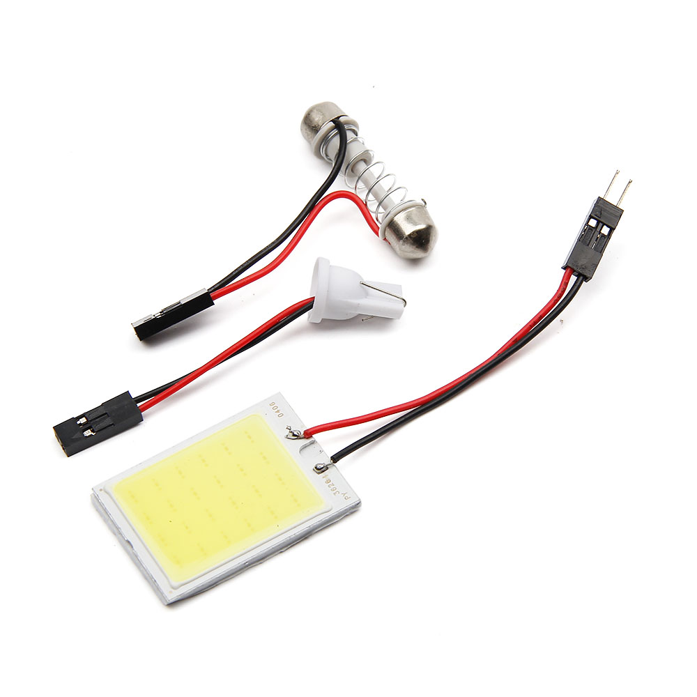 4pcsT10 24 SMD Cob Car Led Panel White Red Car Auto Interior  Reading Parking Light Lamp Bulb Light Dome Festoon BA9S DC 12v cawanerl car 5630 smd led kit package for toyota rav4 2006 2012 auto map dome courtesy cargo light white interior led bulb