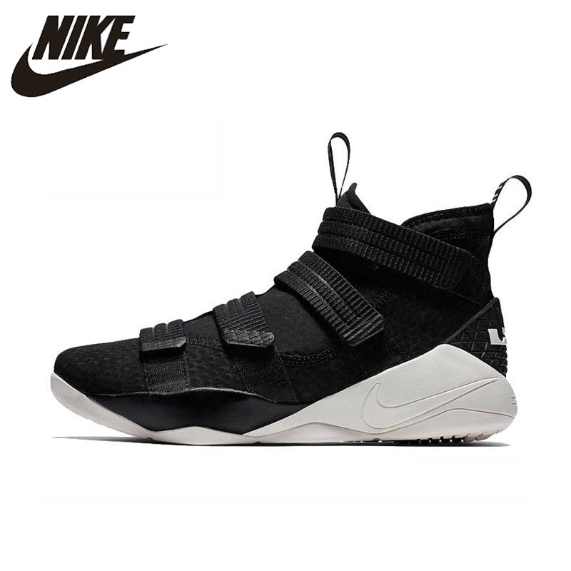 Original Authentic Nike LEBRON SOLDIER 11 Men Basketball Shoes Medium Cut Sports Outdoor Sneakers 2018 New Arrival 897647-004(China)