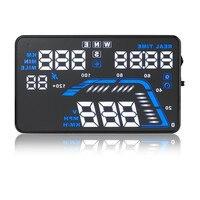 5.8 inch Universal Heads Up Display Q7 digital displaying instrument temperature speed oil meter HUD speeding alert GPS tracking