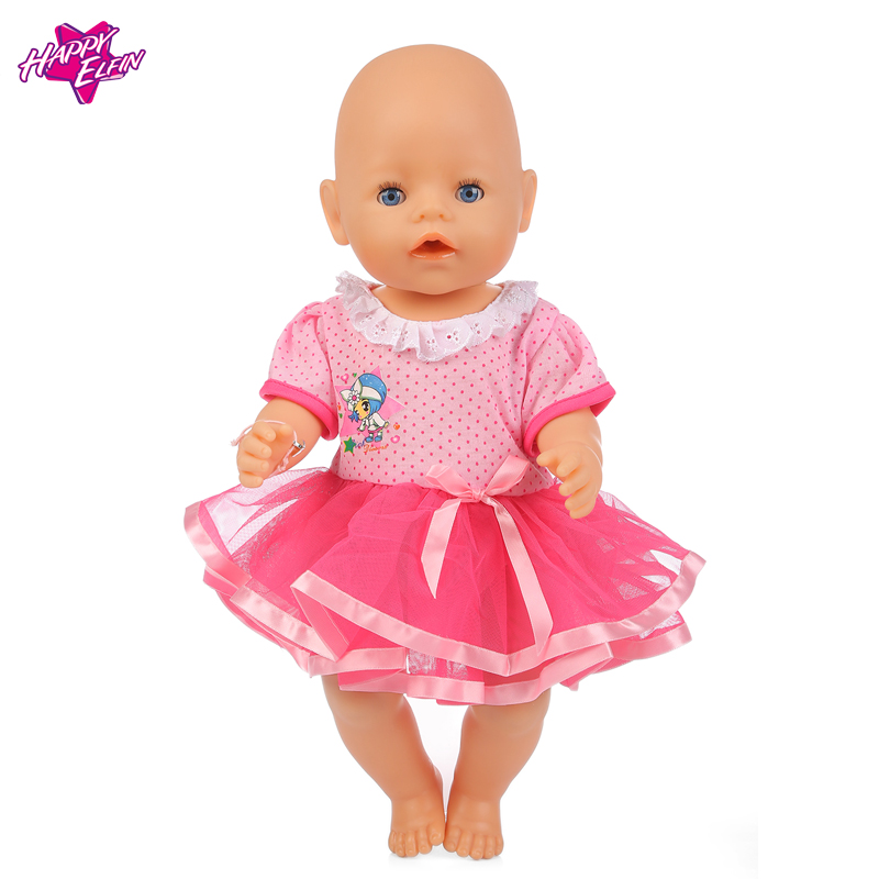 Розовое Платье + Трусы Одежды Куклы Одежда подходит 18 дюймов American Girl, Baby Born zapf, одежда Для Кукол Дети лучший Подарок