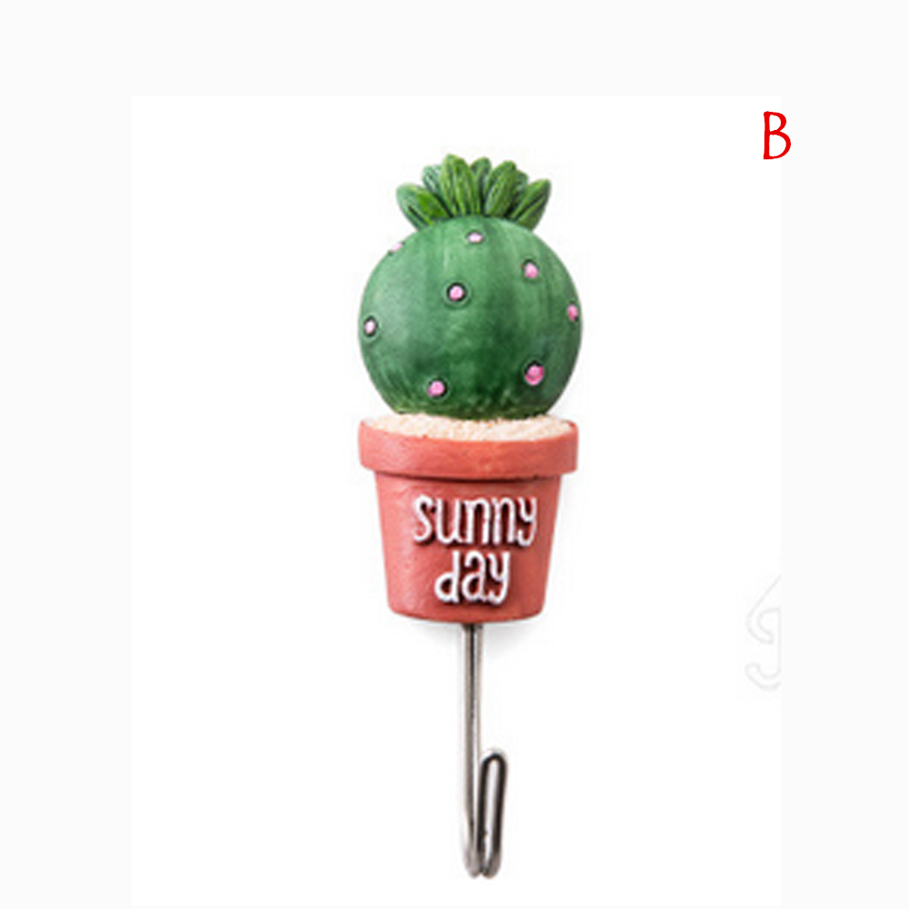 Newest Simulation Succulent Plants Pot Strong Self-Adhesive Wall Hook Hanger Door Hang lacquer For Kitchen Bathroom 18MAR12