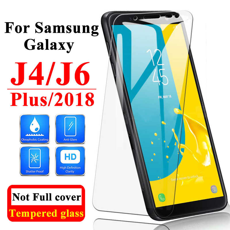 زجاج واقي على لسامسونج غالاكسي J6 زائد J4 2018 واقي للشاشة J6plus Screenprotector J62018 Sansung درع المجرات 6J