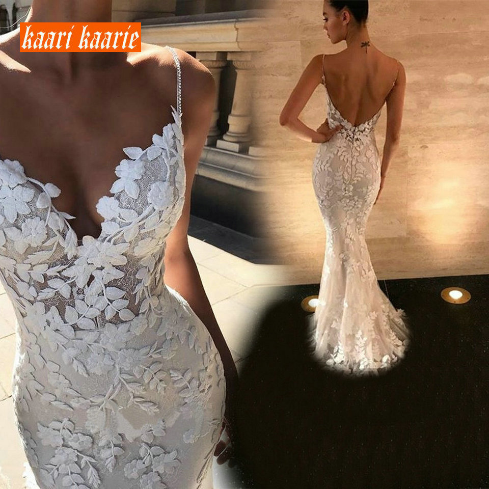 Fashion Lace Mermaid Party Long Dress Evening 2019 New Evening Gown Women V Neck Sleeveless Banquet