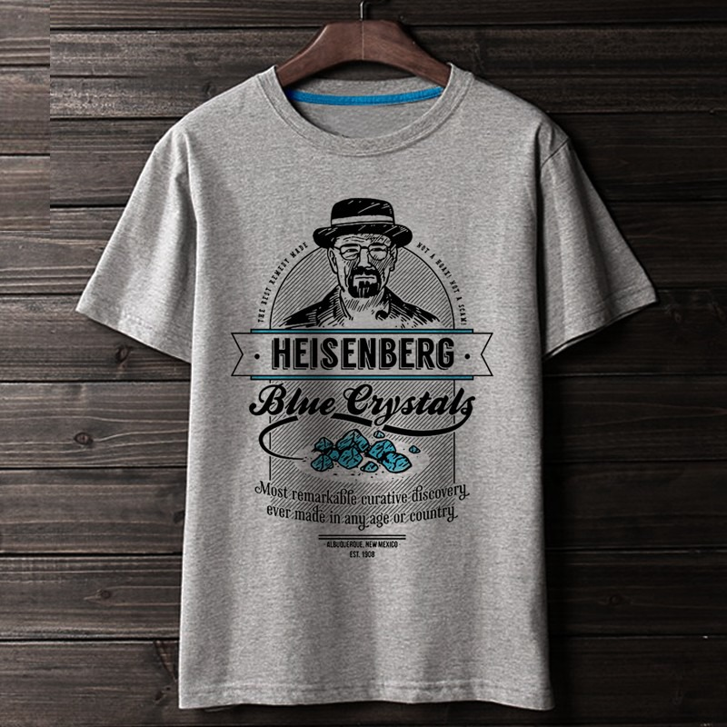 WBDDT Breaking Bad Heisenberg Walter White T-shirt Men shirts 3D Print Cotton Unisex Top Transfer Tees Suit Homme Drop Shipping image