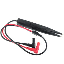 Chip smd smt clipe de teste de ponta ponta multímetro digital medidor pinça para medição de capacitância de resistência