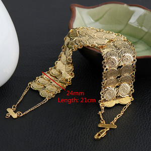 Image 3 - Money Coin Bracelet Gold Color Islamic Muslim Arab Coins Bracelet for Women Men Arab Country Middle Eastern Jewelry