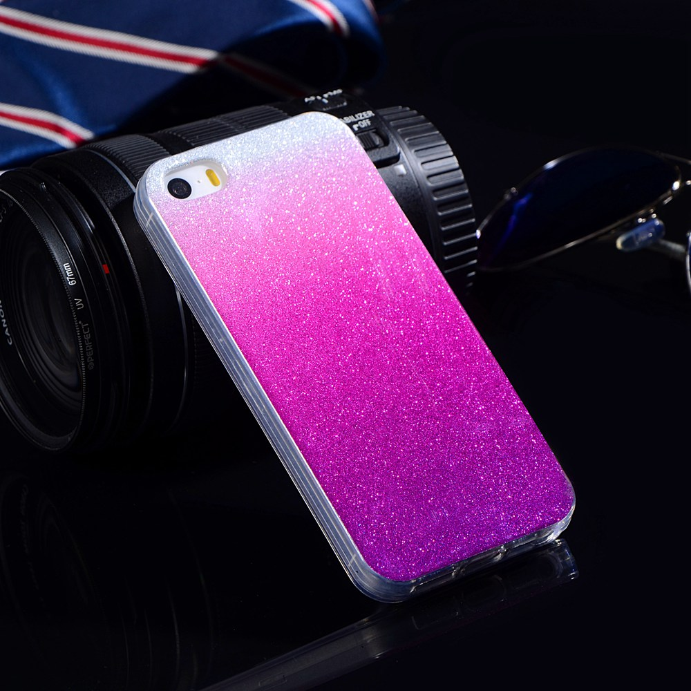 For iPhone 5S SE Case Silicon Glitter Slim Phone Cover For iPhone 5 5s SE Case Luxury Soft TPU Back Shiny Fundas For iPhone SE
