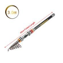 Lixada 2.1/2.4/2.7/3M Telescopic Fishing Rod Reel Combo Full Kit Spinning Reel Pole Set with  Fish Line Lures Hooks Bag Case
