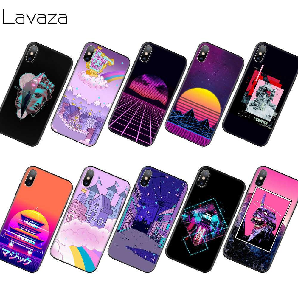 Lavaza Vaporwave פסטל אסתטי אמנות רך TPU מקרה עבור iPhone 11 פרו XS Max XR X 8 7 6 6S בתוספת 5 5S SE