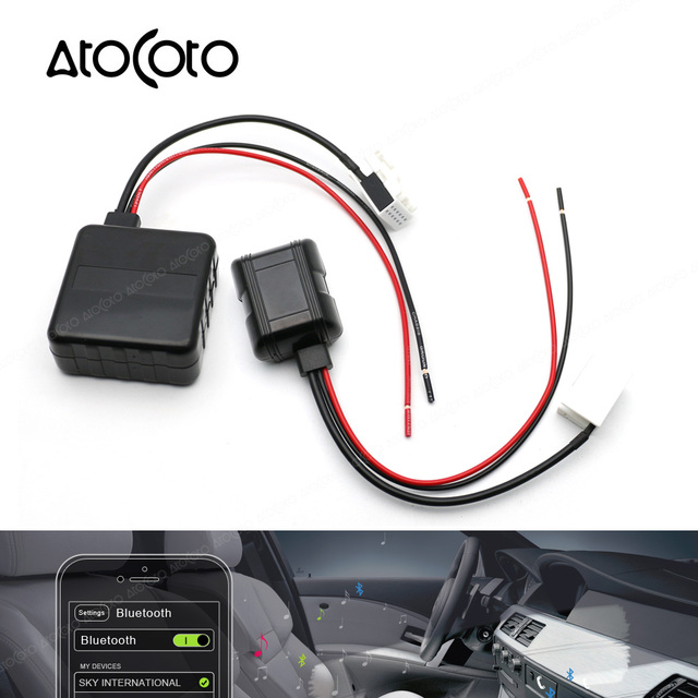 car bluetooth module for bmw e60 04 10 e63 e64 e61 radio stereo aux cable adapter with filter. Black Bedroom Furniture Sets. Home Design Ideas