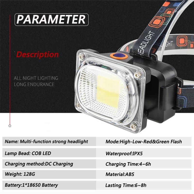 COB LED Scheinwerfer Helle USB aufladen Outdoor camping Angeln scheinwerfer Arbeiten Tragbare Scheinwerfer laterne taschenlampe 6000LM