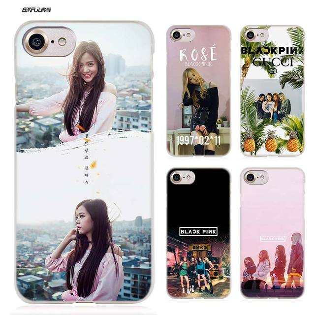 BiNFUL BLACK PINK KPOP Hard Clear Case Cover Coque for iPhone X 6 6s 7 8 640x640