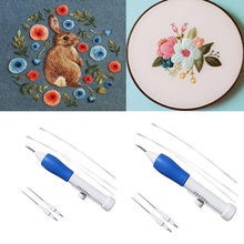 Magic Embroidery Pen DIY Crafts Magic Embroidery Pen Set DIY 2sets Interchangeable Punch Needle Sewing Accessories(China)