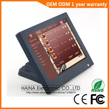 15'' All in one Touch Screen PC Desktop Computer for POS Terminal, Computador All in one for Cash Register