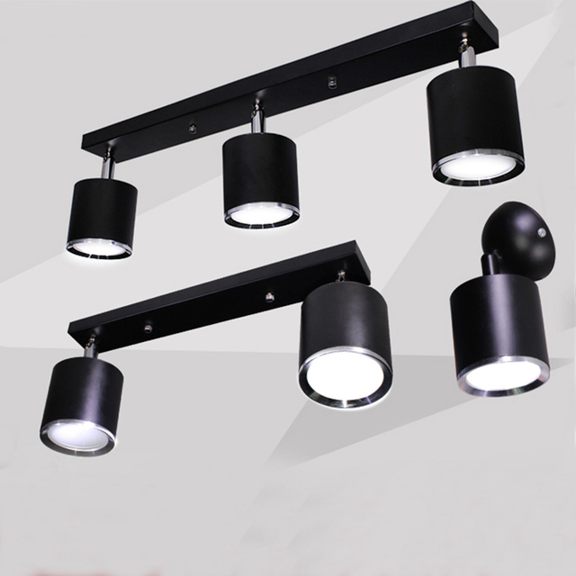 Black white ceiling lamp led spotlight23 arms aluminum spotlight black white ceiling lamp led spotlight23 arms aluminum spotlight floodlight mozeypictures Choice Image