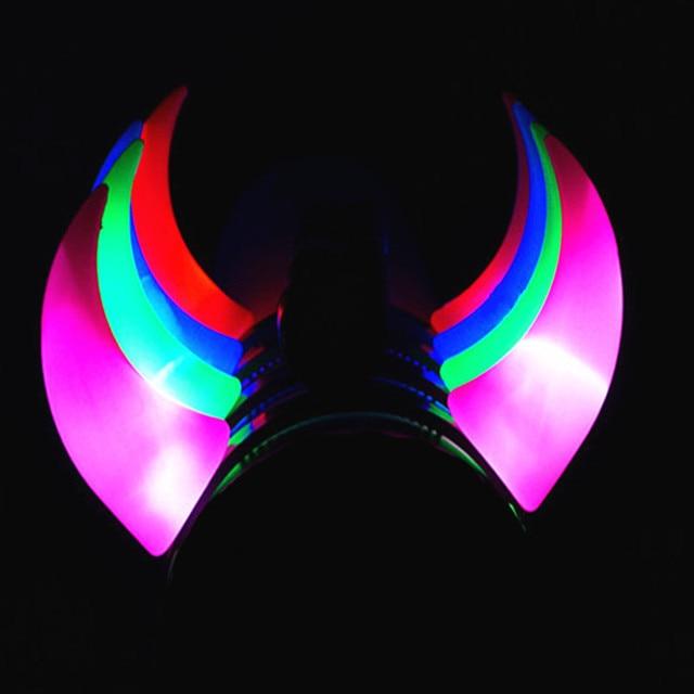 LED Flashing Light Big Devil Horn Headband For Women Girl Concert Glow  Hairband Party Headwear Hair b062f6c3407a