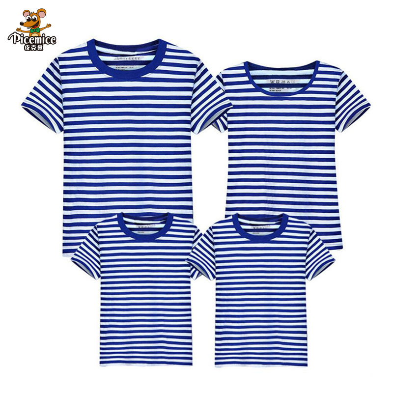Family Matching Outfits 2019 Summer Style Short T Shirts 13 Colors Family Clothes Father M