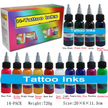 Tattoo Inks 30ml 1OZ Tattoo Pigment Inks Set For Body Tattoo Art Kit U-PICK each Colors 14 Colors Free Shipping