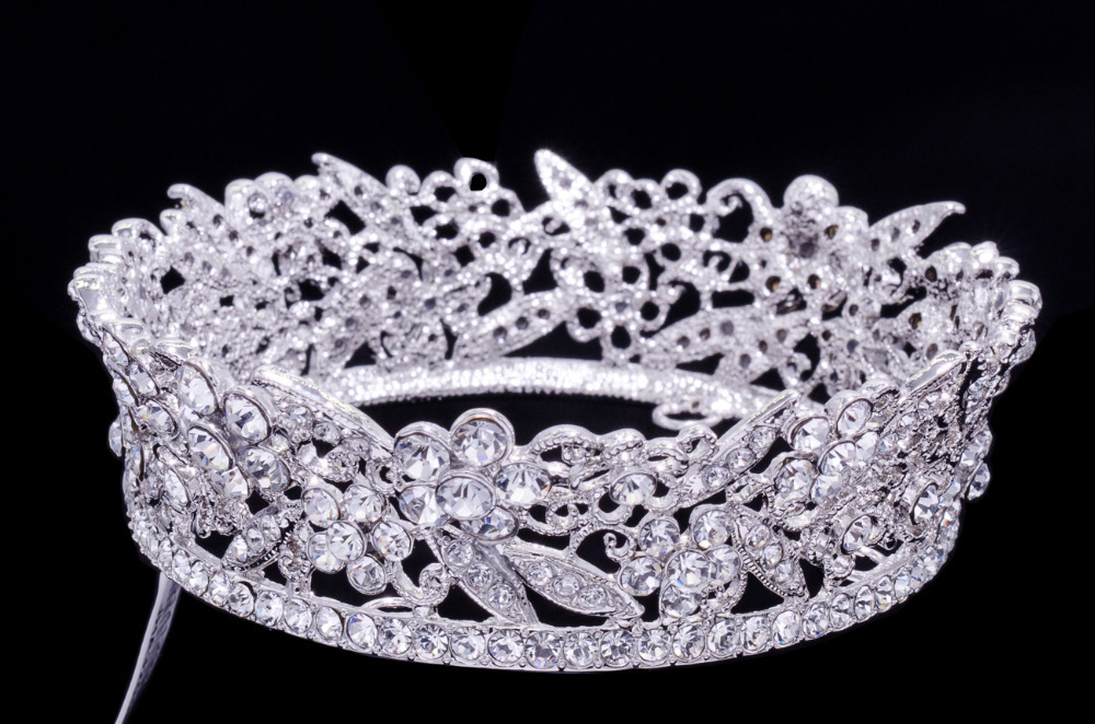 High Quality Exquisite Austrian Crystal Round Flower Tiaras Crown for Little Girl Wedding Jewelry Hair Accessories Gift JHA3205B