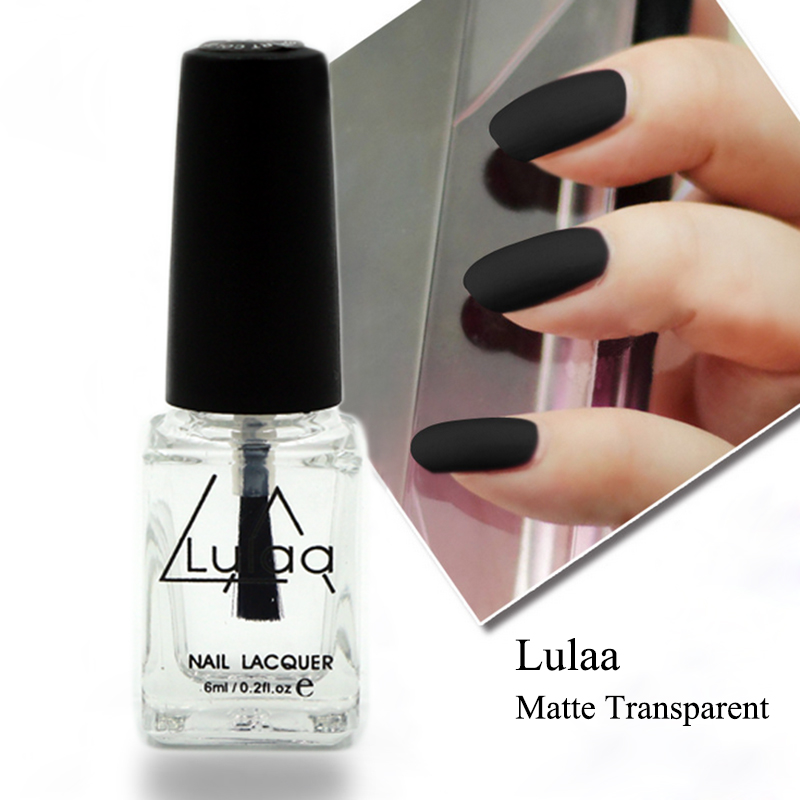 Free Shipping Lulaa 6ml Nail Polish Magic Super Matte Transparent Nails Art Gel Frosted Surface Oil Nail Polish High Quality