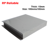 1pcs 15mm Thick, 100mm*100mm Soft Silicone Thermal Pads for Lighting Power Supply, LED, Heat Sink Heat Transfer RP Reliable
