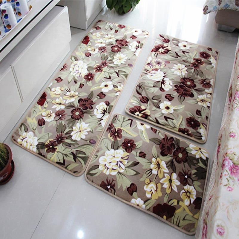 3 Pieces/Set Large Size Bath Mat For The Kitchen Living Rom, Cheap Large  Non Slip Bathroom Rugs Carpet Set Tapis Salle De Bain