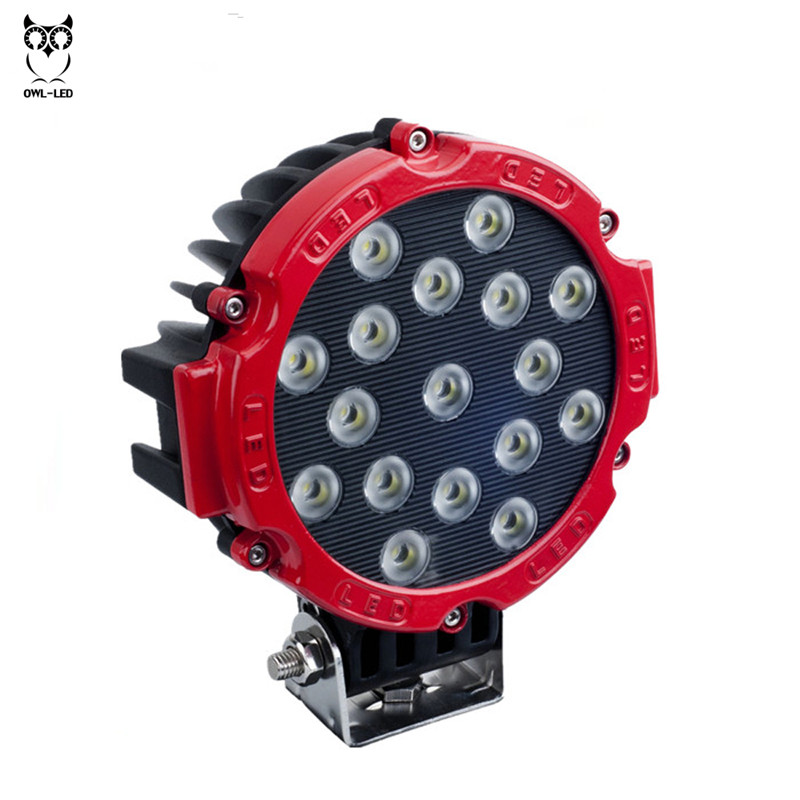 Automobiles & Motorcycles Professional Sale 7 Inch Round High Power 17 X 3w Spot Light For 4x4 Offroad Truck Tractor Atv Suv Driving Waterproof 51w Led Work Light To Produce An Effect Toward Clear Vision Car Lights
